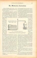 Médecine Etuve Humide Ambroise Paré Médecin Appareil de Sanctorius GRAVURE 1905