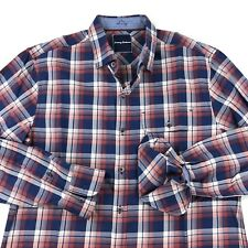 Tommy Bahama Men's Shirt Glen Plaid Blue Red LS Medium M New