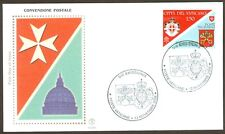 Vatican City Sc# 1395,  Postal Convention SMOM - Vatican City, First Day Cover