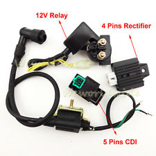 ATV Ignition Coil CDI Rectifier Relay For Chinese 50 70 90 110cc Quad 4 Wheeler