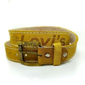 Levi's Size is 47 Inch Chrysler Yellow ColorLevi'sLeather Men Belt