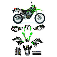2004 - 2007 Kawasak KLX 250 Rockwell PHNX  Motocross Graphics Kit & Plates Combo