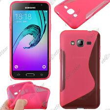 Housse Etui Coque Silicone S-line Souple Rose Samsung Galaxy J3 2016 SM-J320F