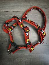 New Disney Parks Dog Collar Harness Mickey Mouse Size Large Dog Red adjustable
