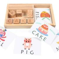3-in-1 Kids Spelling Learning Game Wooden Spelling Words Baby Enlightenment