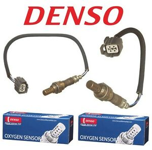 Front & Rear Denso Oxygen O2 Sensor Pair Set for Honda Accord DX LX 2.3 98-02