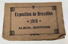 Exposition De Bruxelles Brussels 1910 Souvenir Album ANTIQUE ORIGINAL 12 Photos