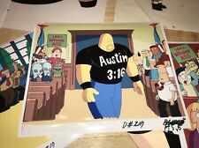 DILBERT Animated Series Original CEL ART +Drawings- STONE COLD STEVE AUSTIN! WWE