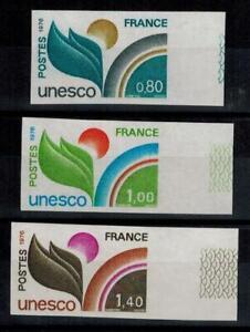 """(a34) timbres de service France n° 50/52 neufs** année 1976 """"non dentelés"""""""