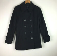 Gap Women's Size Small Wool Blend Pea Coat Jacket Double Breasted Coat