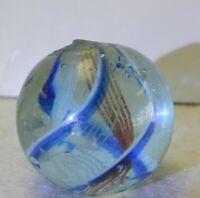 9191m Ultra Rare 3 Color Latticino German Swirl Marble .84 Inches