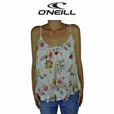 Womens O'Neill Hayden Floral Cream Surf Summer Sleeveless Top Light Tank O1.18