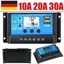 Solar Laderegler 30A 20A 10A 12V/24V Auto PV 50V LCD Photovoltaik Solarreger USB