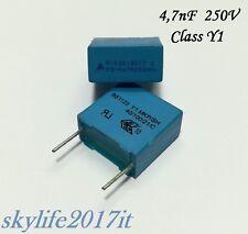 10pz Condensatori elettrolitici 4,7uF 250V FJ14 ART