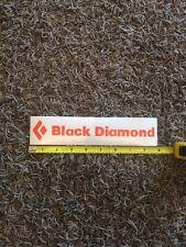 "Black Diamond Vinyl Sticker Logo Decal 9"" Orange"