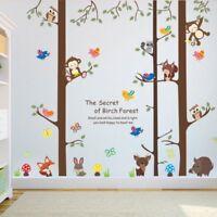 Wandtattoo Wandsticker Hase Fuchs Wald Affen Tiere Kinderzimmer Kind #134