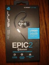 JLab Audio Epic2 Bluetooth 4.0 Wireless Sport Earbuds, Black- Brand New & Sealed