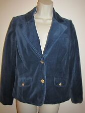 Old Navy Velour Blazer Dark Blue Size Small 100% Cotton Completely Lined Jacket