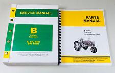 Service Manual Set For John Deere B Bn Bw Bwh Bnh Tractor Parts Repair Shop Book
