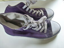 Purple Canvas  Skate Shoes Skater Trainers Sneakers Size 41