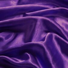 Plain Purple Budget Satin Fabric (Per Metre)