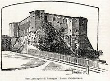 SANTARCANGELO DI ROMAGNA: Rocca Malatestiana.Via Emilia.Rimini.Passepartout.1901