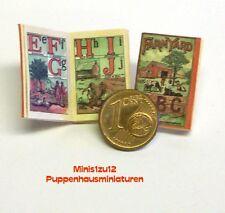 M 1:12 Puppenstube-Puppenstube 1021# Nostalgie Miniaturbuch Lesebuch