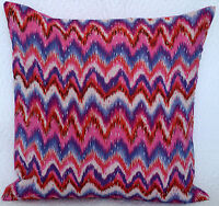 Indian floral kantha cushion covers - Osmani Zig Zag Print Pillow Cover Handmade