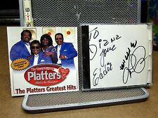 PLATTERS autographed CD Greatest Hits Lawrence Lockard Eddie Stovall Willie Nash