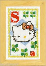 Vervaco  0149581  Alphabet © Hello Kitty - Lettre S  Kit  Point de Croix  Compté