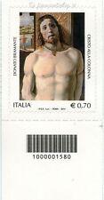 2014 francobollo  Donato Bramante DX CODICE A BARRE 1580