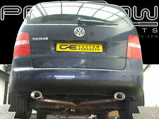 VW TOURAN STAINLESS STEEL CUSTOM BUILT EXHAUST SYSTEM DUAL SINGLE TAIL PIPES