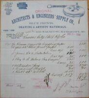 1900 Letterhead: Architect/Engineer Supply- Kansas City