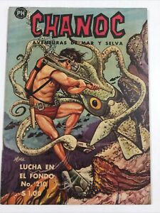 1963 SPANISH COMICS CHANOC #210 AVENTURAS DE MAR Y SELVA PH HERRERÍAS MEXICO