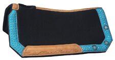"Western Felt Saddle Pad - Gypsy Spirit - Contoured Fit - Black - 28"" x 30"""