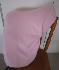 Horse Stock / Western / Swinging Saddle cover FREE EMBROIDERY Pale Pink