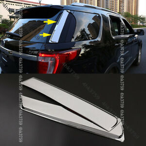 1pcs For Ford Explorer 2011-2015 ABS chrome Rear control switch panel cover trim