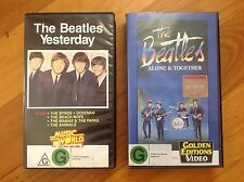 VHS VIDEO MOVIES The Beatles YESTERDAY and ALONE TOGETHER