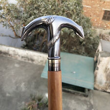 Brass Anchor Head Handle Antique Style Solid Victorian Wooden Walking Stick Cane