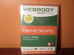 Webroot SecureAnywhere Internet Security - Full Version Windows & Mac WBR00SA14