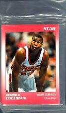 1990-91 STAR CO.DERRICK COLEMAN NEW JERSY NETS  FACTORY SEALED  11 CARD SET RARE