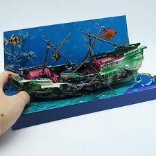 Large Galleon Air-Split Shipwreck Cave Aquarium Ornament Fish Tank Decorat UKYQ
