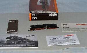 Z Scale Marklin 8154 BR 50 DB mini-club Museum Steam Locomotive Mint In Box
