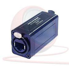 Neutrik NE8FF Ethercon RJ45 Taladro de paso acoplador Adaptador extensiones de cable.