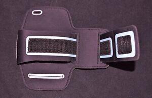 Jarv Arm Band Clear Pack Cell Phone Holder Black & Off White Hook/Loop fastener