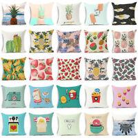 18'' creative cotton linen funny pillow case sofa waist cushion cover Home Decor