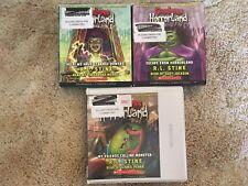 Lot 3 RL STINE Goosebumps Unabridged CD Audiobooks YA Horrorland Help Escape
