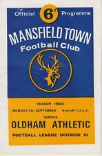 MANSFIELD TOWN FOOTBALL PROGRAMMES 1966-67 ~ YOU CHOOSE OPPONENTS GOOD CONDITION