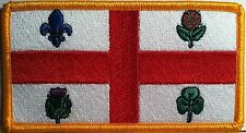 MONTREAL CANADA Flag Patch With VELCRO® Brand Fastener Military Gold Emblem