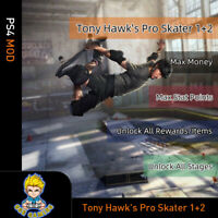 Tony Hawk's Pro Skater 1+2 (PS4 Mod)-Max Money/Stat Points/Rewards/Items/Stages